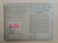 Timbre poste aerienne sur carte d'abonnement.