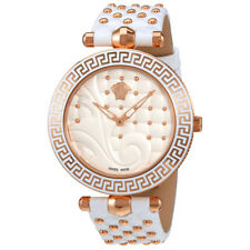 Versace Vanitas White Dial Ladies Leather Watch VK7510017