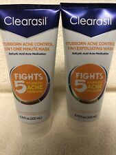 Clearisil Stubborn Acne Wash and Mask NEW Exfoliating Wash And Mask 6.78oz