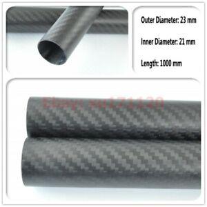 3k Carbon Fiber Tube OD 23mm - ID 21mm Tube Thickness 1.0mm - Langth 1000mm Matt