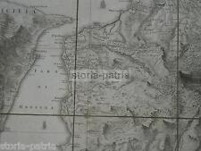 CALABRIA_REGGIO_SICILIA_MESSINA_ANTICA GRANDE CARTOGRAFIA_NUMEROSI TOPONIMI_1788