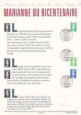 Document Philatélique Timbre 1er Jour : 12/07/ 1993 - Marianne du bicentenaire