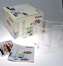 """Iittala Clear Glass Alvar Aalto Vase Finland Luminaire Modern 4.75"""""""