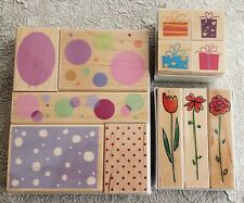Lot Hero Arts Fanciful Rubber Stamps Jubilee Dots Spring Flowers Presents New