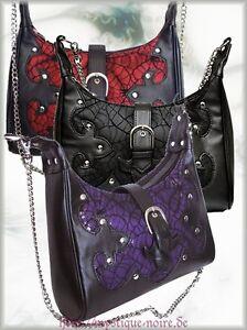 Handtasche Spinnennetz Veggie-Leder Chains Gothic Vampir Horror Punk Halloween