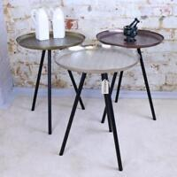 Dass Metal Side Table Tripod Style Retro Vintage 3 Colours Accent End Tray