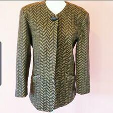 Vintage 1980s Wool Chevron Mr.Jax Jacket Size 8
