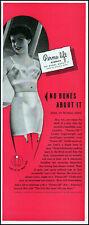 1949 Woman modeling Perma-Lift Bra (The Lift) Girdle retro photo print ad L94