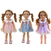 Handmade Cute Dress Clothes Skirt Accessories For 18 inch American Girl Doll
