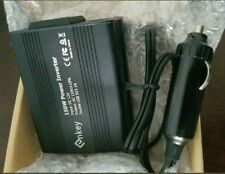 Enkey Car Power Inverter DC 12V to AC 110V with Dual USB Charging Ports Black