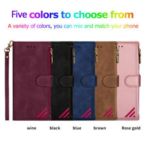 Fashion Zipper Wallet Phone Case Cover For iPhone 12 11 Pro XS Max XR 6 7 8 Plus