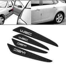4 PCS Carbon Fiber Car Side Door Edge Protection Guards Trims Stickers Adhesive