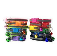 Reflective Cat Collar Hi Vis Dog Cats Pet Bell Cute Colourful Buckle Adjustable