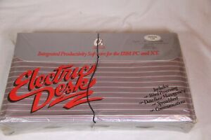 Vintage Electric Desk v1.04 by Alpha Software for IBM PC - Sealed with Damage