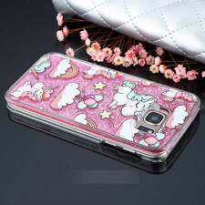Cartoon Unicorn Dynamic Quicksand Glitter Liquid Case For Samsung Galaxy S7 S6