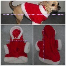 Manteau costume noël gilet chien chat 16cm capuche