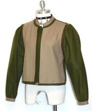 "Green & Beige Loden Wool Jacket German Hunting Riding Short Winter Car B38"" 8 S"