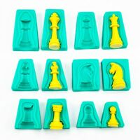 6X Silikon 3D International Schach Backform Form Kuchen Fondant-Küche Cake Q2U4