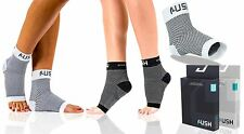 Plantar Fasciitis Socks with Arch & Heel Support - Increases Circulation-S/M WH