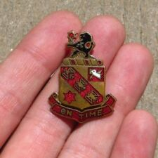 WW2 US Army Military DUI DI Crest Pin Insignia 32nd Field Artillery JAPANESE MD