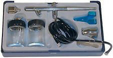ATD 6849 Air Brush Kit - 5ft Air Hose - 22/50cc Glass Jars Double Action Trigger