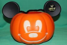 DISNEY PARK MICKEY MOUSE EARS LIGHT UP HALLOWEEN PUMPKIN JACK-O-LANTERN NEW