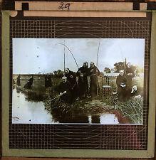 Magic Lantern Slide (A12) Fishing Scene