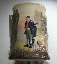 CLASSIC ENGLISH DICKENS'  OLIVER TWIST,BILL SYKES HIGH RELIEF ROYAL DOULTON VASE