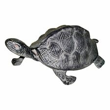"GiftBay Garden Turtle Statue, Solid Cast Aluminum Metal, 9"" Length Patina Finish"