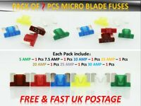 MERCEDES-BENZ CAR FUSES ASSORTMENT SET SMALL BLADE 5 7.5 10 15 20 25 30AMP *