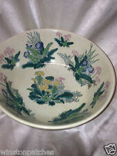 Lacma Los Angeles County Museum Of Art 2001 Decorator Bowl Floral Flowers Hand