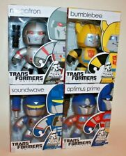 Lot of 4 Transformers MIGHTY MUGGS - OPTIMUS PRIME MEGATRON BUMBLEBEE SOUNDWAVE