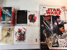 Star Wars The Last Jedi Mini Master Set 141 Cards Base & 5 Inserts Box Wrappers