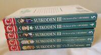 Lot Of 5 Suikoden III Manga 1-5 1 2 3 4 5 Tokyo Pop Aki Shimizu