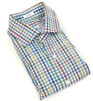 Peter Millar Men's Medium Shirt Long Sleeve Button Down Colorful Plaid
