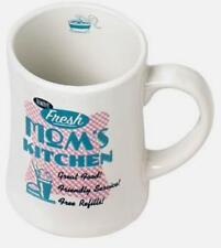 New MOM'S KITCHEN 50's Retro Look Coffee or Tea Mug 15 oz White Aqua Pink