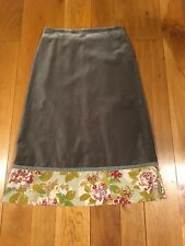 Boden Sage Green Velvet Long Skirt with Sequins 14R EXC