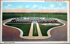 1949 Monroe, Louisiana Linen Postcard: Municipal Natatorium - LA