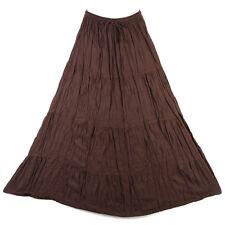 Bohemian Tier Long Skirt Boho Hippy Hippie Gypsy Dark Brown XS-XL sk167bd