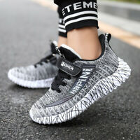 Kids Boys Soft Luminous Athletic Sneaker Running Shoes Outdoor Sports Breathable
