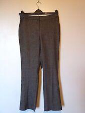 Viyella Fully Lined Wool Blend Trousers Petite Size 8 Chocolate