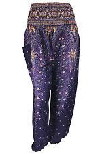 New Harem Smock Pants Peacock Hippie Festival Boho Aladdin Wide Baggy Trousers