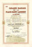 Belgica, Le Grand Bazar de la Place Saint-Lambert SA Liege, accion, 1962