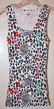 WHITE ANIMAL PRINT TANK TOP - Size Small