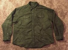 True Grit Men's Size XXL Dark Green Long Sleeved Button Down Shirt Sueded Wovens