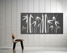 Laser Cut Metal Decorative Screen 'Bamboo' Mild Steel - 1200 x 600