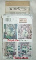 Window Curtains Valances Uncut sewing pattern Butterick Waverly 3103 Home Decor