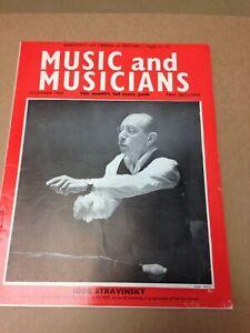 Music and Musicians Magazine December 1958 Igor Stravinsky (A2025)