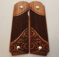 1911 Full Size & Commander Colt Sig S&W Kimber Springfield Grips Solid Rosewood
