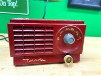 Vintage Red Motorola Tube Radio - tested